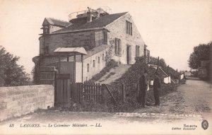 FR38 Langres, Haute Marne, France, Le Colombier Militaire, Vintage Postcard.