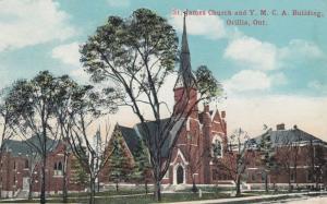 ORILLIA , Ontario , Canada , 1900-10s ; Y.M.C.A. & St James Church