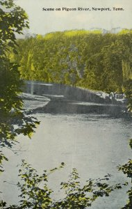 NEWPORT , Tennessee, 1900-10s ; Scene on Pigeon River
