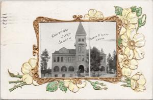 Central High School Coeur D'Alene Idaho ID Embossed c1909 Postcard E62