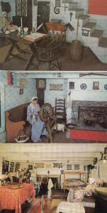 Scadding Pioneer Log Cabin 3x Canada Canadian Postcard