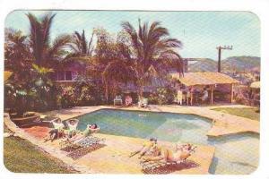 Swimming Pool, Alberca del Hotel Mallorca,  Acapulco, Gro.,  Mexico, 40-60s