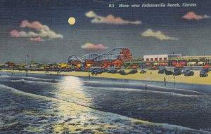 JACKSONVILLE , Florida , 1930-40s , Moon over beach