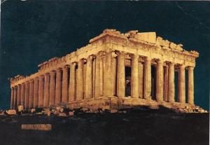 Greece Athens The Parthenon Illuminated