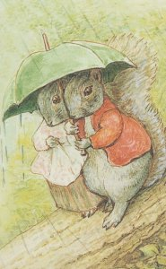 The Tale Of Timmy Tiptoes 1911 Book Beatrix Potter Postcard