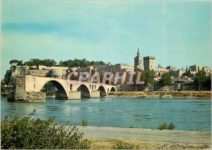 Postcard Modern Avignon Vaucluse General View of the Pont St Benezet and Pala...