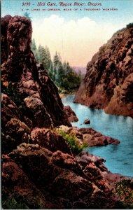OREGON Postcard 1909 Hell Gate, Rogue River - VINTAGE - COLORS