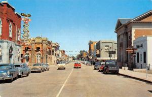 Medicine Hat Alberta Second Street Scene Store Fronts Vintage Postcard K23745