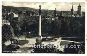 Stuttgart Germany, Deutschland Postcard Schlokplatz  Schlokplatz