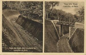 Sao Tomé en Principe, Roça Uba Budo, Caminho de Ferro (1920s) Postcard