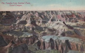 GRAND CANYON, Arizona, 1900-1910's; The Temples From Sentinel Point