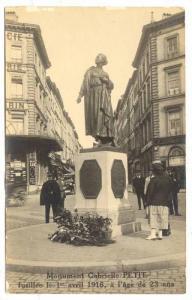 RP; Monument Gabrielle, PETIT fusillee le avril 1916, a l'age de 23 ans, Belg...