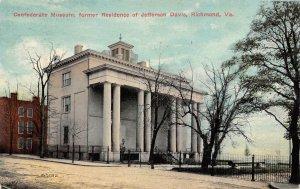 LP94 Richmond  Virginia Postcard Jefferson Davis Residence Civil War