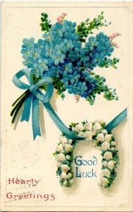 Greeting -  Good Luck       (embossed)