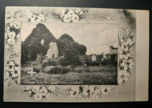 Mint Vintage Aghadoe Ruins Round Tower Co Kerry Ireland Real Picture Postcard