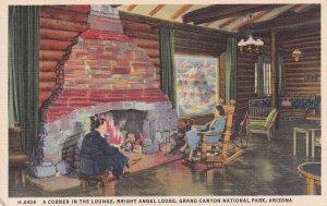 GRAND CANYON, Arizona, 1930-1940's; A Corner In The Lounge, Bright Angel Lodg...