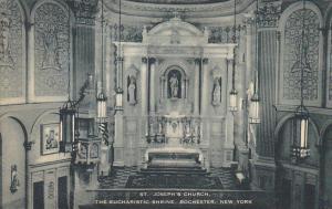 New York Rochester Interior The Eucharistic Shrine St Joseph's Church 1955