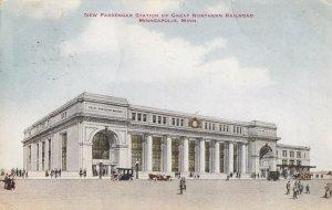 MINNEAPOLIS, Minnesota PU-1913; New Passenger Station Of Great Northern Railroad