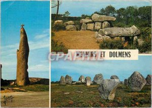 Postcard Modern menhirs and dolmens Brittany Country of dolmens and menhirs