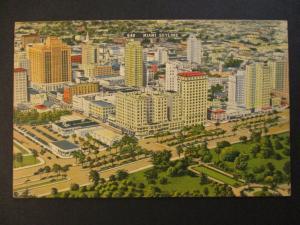 Mint Vintage Miami Skyline Florida Postcard