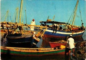 PC CPA SAUDI ARABIA, JEDDAH, FISHING BOATS, Modern Postcard (B3804)