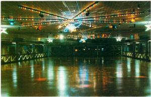 Agawam MA The Rollaway Roller Skating Rink 1970s-1980s Postcard