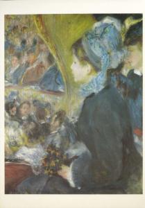 'The Cafe-Concert' Pierre August Renoir National Gallery Art Unused Postcard D31