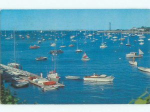 Pre-1980 BOAT SCENE Marblehead Massachusetts MA AF4364