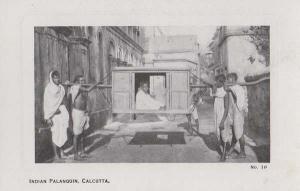 Palanquin Calcutta India Indian Antique Postcard