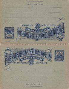Tres Centavos Postal Card , Nicaragua