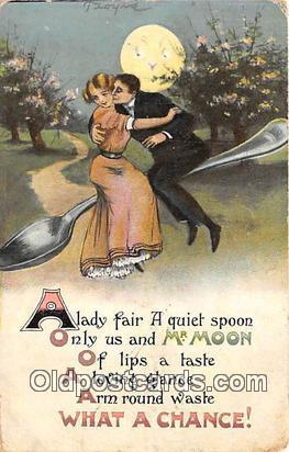 Spoon Postcard  Mr. Moon