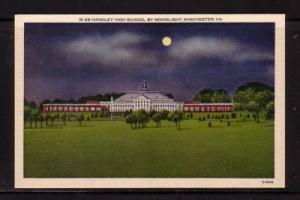 Virginia Postcard  Night Handley High School Winchester