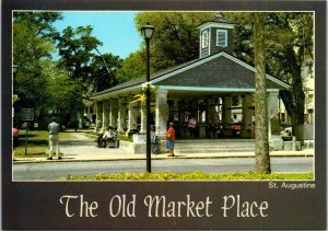 Postcard The Old Market Place St Augustine Florida Checkers Chess Unposted 1669