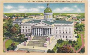 South Carolina Columbia View Of Capitol As Seen From Wade Hampton Hotel