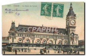 Old Postcard Paris Gare de Lyon