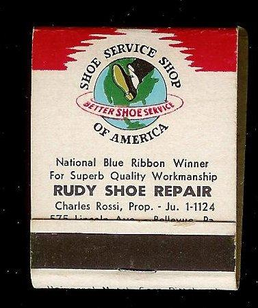 RUDYS SHOE REPAIR Full Unstruck Matchbook