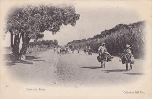 Men on Donkeys , Etude sur Route , 1890s