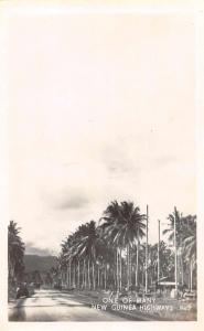 New Guinea Highway Street Scene Real Photo Antique Postcard J66626