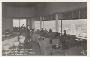 RP: San Francisco , California , 1930-40s Cocktail Lounge, Mark Hopkins Hotel
