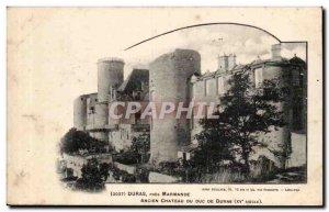 Duras Old Postcard Pres Marmande Duras Old Duke's castle