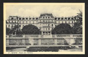 Palace of Nations Geneva SWITZERLAND Unused c1920s