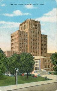 City & County Building, Ogden, Utah UT, Linen