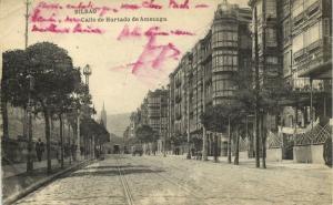spain, BILBAO, Calle de Hurtado de Amezaga (1920) Stamps
