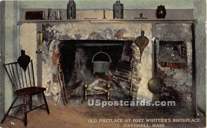 Old Fireplace at Poet Whittier's Birthplace - Haverhill, Massachusetts MA