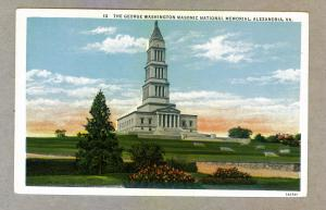 George Washington Masonic National Memorial, Alexandria, Virginia unused PC