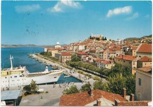 SIBENIK, Croatia, Panorama, 1973 used Postcard