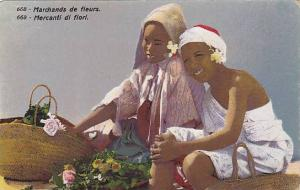 Arab Children, Mercanti Di Fiori, 1900-1910s