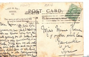 Genealogy Postcard - Family History - Herman - Newcastle-On-Tyne  A3396
