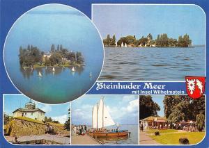 Steinhuder Meer mit Insel Wilhelmstein Island Lake Boats Terrace Panorama