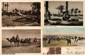 LIBYA LIBIA AFRICA 9 Vintage Postcard CPA AFRIQUE